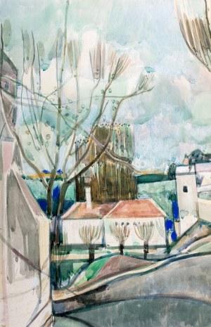 Joseph Pressmane (1904 Beresteczko- 1967 Paryż), Widok na wioskę
