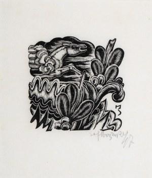 Stefan Mrożewski (1894 Częstochowa –1975 w Walnut Creek), Kompozycja z koniem, 1947 r.