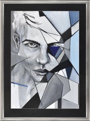 Elżbieta Golimowska (Ur.1993), Portret mężczyzny, 2017