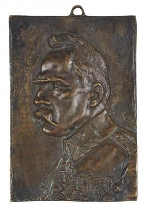 Autor Nieokreślony, Plakieta z popiersiem Józefa Piłsudskiego, XX w.