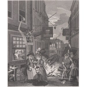 William Hogarth (1697 - 1764), Thomas Cook (ok. 1744-1818), Noc, 1798