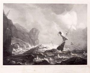 Johann Woelfjle (1807 - 1893), Burza na morzu, ok. 1850