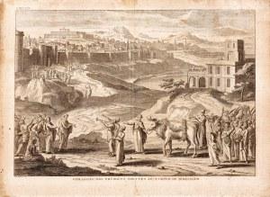 I.B. Martin, Danina pierwszych plonów niesiona do świątyni w Jerozolimie, ok. 1730