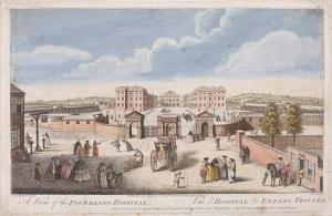 Nathaniel Parr, XVIII w., Widok na Foundling Hospital, Londyn, 1753