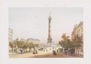 Jules Arnout (1814 - 1868), Kolumna Lipcowa i Plac Bastylii, Paryż, 1850 -1860