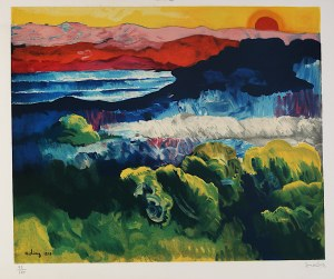 Mojżesz Kisling (1891 - 1953), Pejzaż - zachód słońca