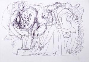 Franciszek Starowieyski (1930 Bratkówka k. Krosna - 2009 Warszawa), Akt - z rysunków Franciszka Starowieyskiego