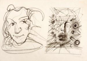 Franciszek Starowieyski (1930 Bratkówka k. Krosna - 2009 Warszawa), Dwie głowy - z rysunków Franciszka Starowieyskiego