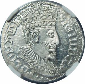 Zygmunt III Waza, Trojak 1598, Olkusz – popiersie z 1596 – piękna