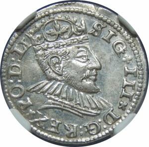 Zygmunt III Waza, Trojak 1590, Ryga – małe popiersie