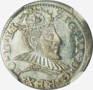 Zygmunt III Waza, Trojak 1590, Ryga – małe popiersie – LI – super