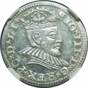 Zygmunt III Waza, Trojak 1590, Ryga – małe popiersie – LIx