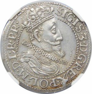 Zygmunt III Waza, Ort 1615, Gdańsk – wąska kryza – kropka za łapą niedźwiedzia