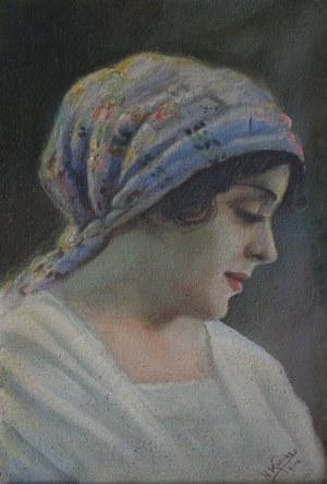 H. Kotrba(pocz.XX w.), Młoda kobieta w chuście