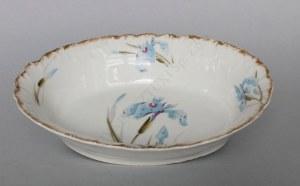 Salaterki z niebieskimi irysami-2 szt. (Ćmielów, ok.1900)