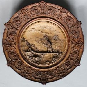 Talerz dekoracyjny eklektyczny(Austria, XIX/XX w.),