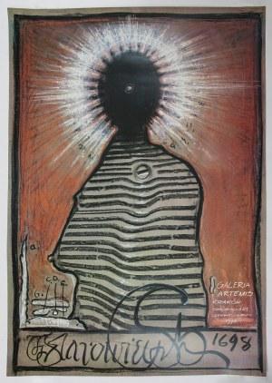 Franciszek STAROWIEYSKI (1930-2009) – projektant, Plakat do wystawy Franciszka Starowieyskiego w Galerii Artemis w Krakowie, 1998