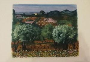 Mojżesz Kisling (1891 - 1953), Pejzaż z Prowansji (Ilustracja do: Jean Giono, Provence)