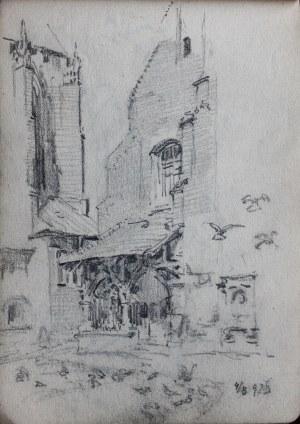 Józef Pieniążek (1888-1953), Gołębie przed kościołem św. Barbary w Krakowie