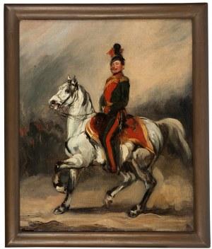 Piotr Michałowski (1800 Kraków – 1855 Krzyżtoporzyce), Huzar austriacki na koniu / Eustachy Dunin - Wąsowicz, ok. 1840 (?) r.