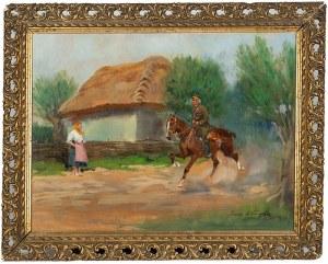 Jerzy Kossak (1886 Kraków - 1955 tamże), Ułan z dziewczyną, 1938 r.
