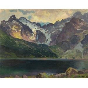 Stanisław Gałek (1876 Mokrzyska - 1961 Zakopane), Widok na Czarny Staw