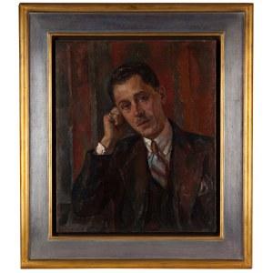 Maurycy Mędrzycki (Mendjizky Maurice) (1890 Łódź- 1951 St. Paul de Vence), Portret mężczyzny z wąsami