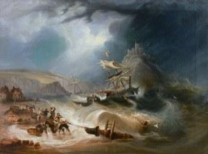 T. Hitchins (XIX w.), Burza na morzu, 1835 r.