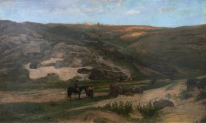 Konrad Ludwik Lessing (1852 Düsseldorf - 1916 Berlin), Zachód słońca nad doliną