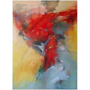 Klaudiusz Abramski - Abstrakcja w czerwieni