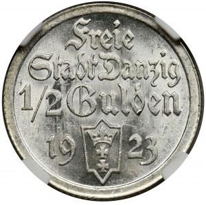 Free City of Danzig, 1/2 gulden 1923 - NGC MS63