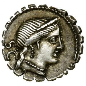 Republika Rzymska, C. Naevius Balbus, Denar serratus
