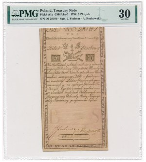 5 złotych 1794 - N.D.1 - PMG 30