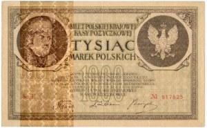 1.000 marek 1919 - Fałszerstwo dywersyjne ze znakiem wodnym - RZADKIE