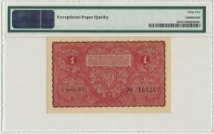 1 marka 1919 - I Serja EU - PMG 65 EPQ