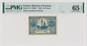 10 groszy 1924 - PMG 65 EPQ