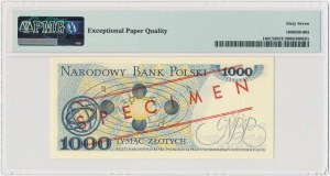 1.000 złotych 1982 - WZÓR - DC 0000000 No.0175 - PMG 67 EPQ