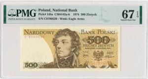 500 złotych 1974 - C - PMG 67 EPQ