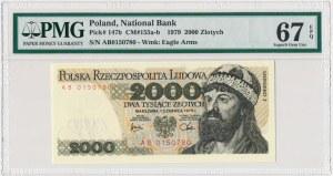 2.000 złotych 1979 - AB - PMG 67 EPQ - rzadka seria