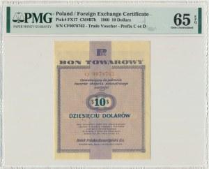 Pewex 10 dolarów 1960 - Cf - z klauzulą - PMG 65 EPQ