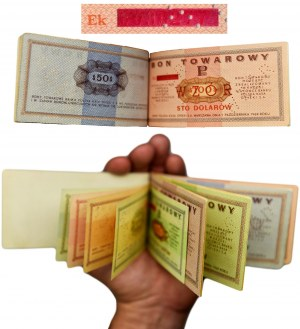 Pewex, Oryginalna książeczka WZORÓW - 1 cent - 100 dolarów 1969 z czerwonym zadrukiem - DUŻA RZADKOŚĆ