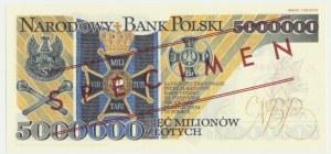 5 milionów złotych 1995 WZÓR - JL 0000000 - seria od Janusz Lucow