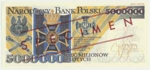 5 milionów złotych 1995 WZÓR - XX 0000000 -