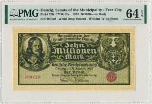 Danzig 10 milion mark 1923 - without series designation - PMG 64 EPQ