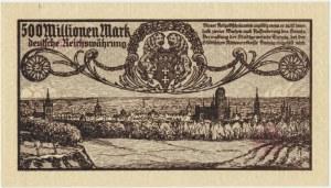 Gdańsk 500 milionów marek 1923 - druk szarofioletowy