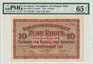 Posen 10 rubles 1916 - E - PMG 65 EPQ