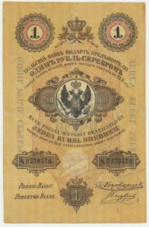 1 rubel srebrem 1858 Niepokoyczycki & Englert - PIĘKNY
