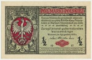 1/2 marki 1916 Jenerał - A - numerator czerwony
