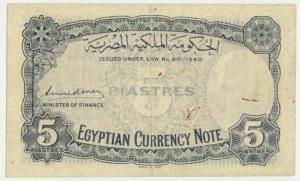 Egipt, 5 piastres 1940