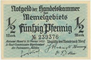 Memel, 1/2 mark 1922